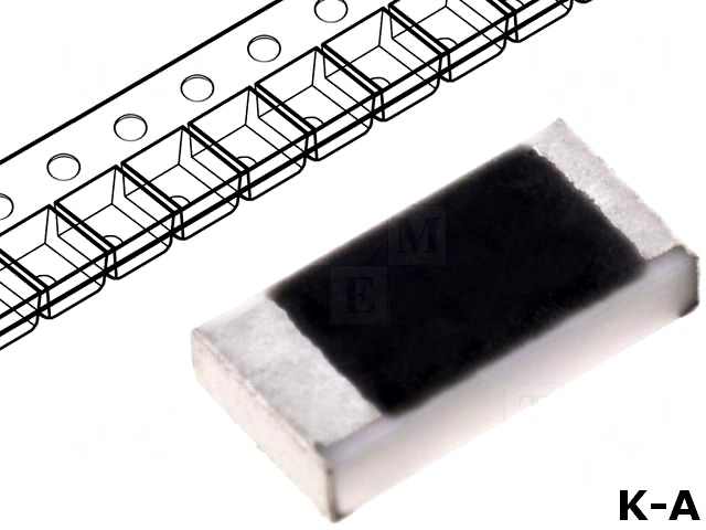 SMD1206-10K - Резистор: thick film, SMD, 1206, 10кОм, 0,25Вт, ±5%, -55÷125°C