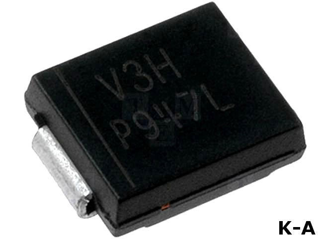 30BQ060PBF - Диод: выпрямительный Шоттки, 60В, 3А, SMC