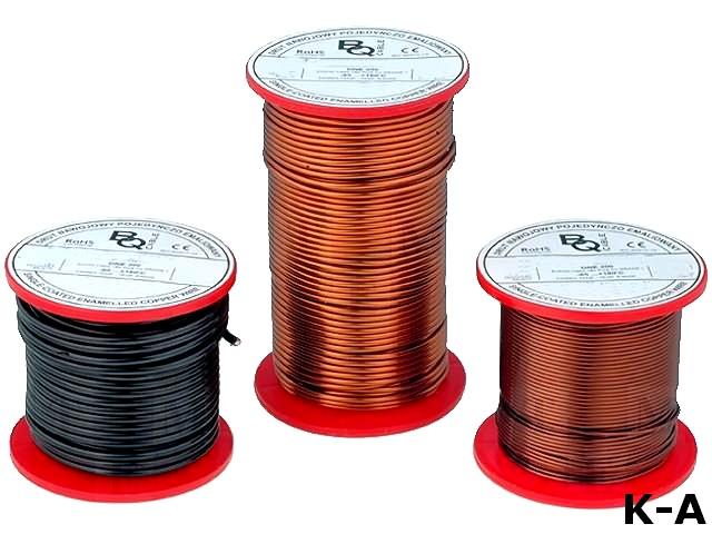DNE1.50/0.25 - Обмоточный, эмалированный, 1,5 мм, 0,25кг, -65÷200°C, Проводник: Cu