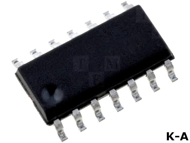 MCP2050-330E/SL - LIN transceiver, 20кбит/с, 6÷18ВDC, Интерфейс: USART, SMD, SO14