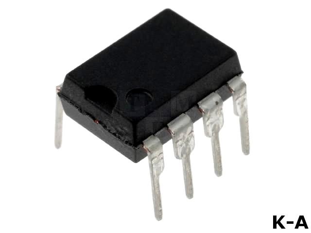 PIC12C508A-04/P - Микроконтроллер PIC, SRAM:25Б, 4МГц, DIP8, 2,5÷5,5В