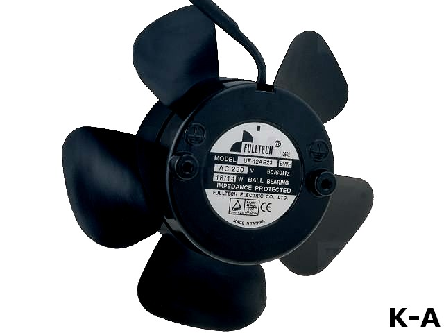 UF12AE23BWH - Вентилятор: AC, осевой, 230ВAC, Ø112x37 мм, 144,5м3/ч, 38дБА, 4 ммH2O