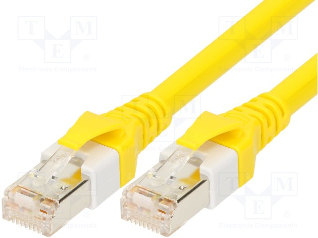 9474747106 Patch cord, S/FTP, 6, многопров, Cu, PUR, желтый, 0,7м, 26AWG